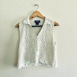 Vintage  |  1990's HONORS Crochet Sleeveless Top